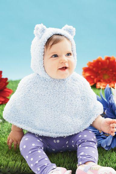 Bernat® Pipsqueak Huggy Bear Cape (Knit) | Yarn | Pinterest ...