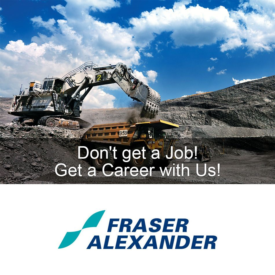 We are hiring in Benoni (Gauteng) Fraser Alexander