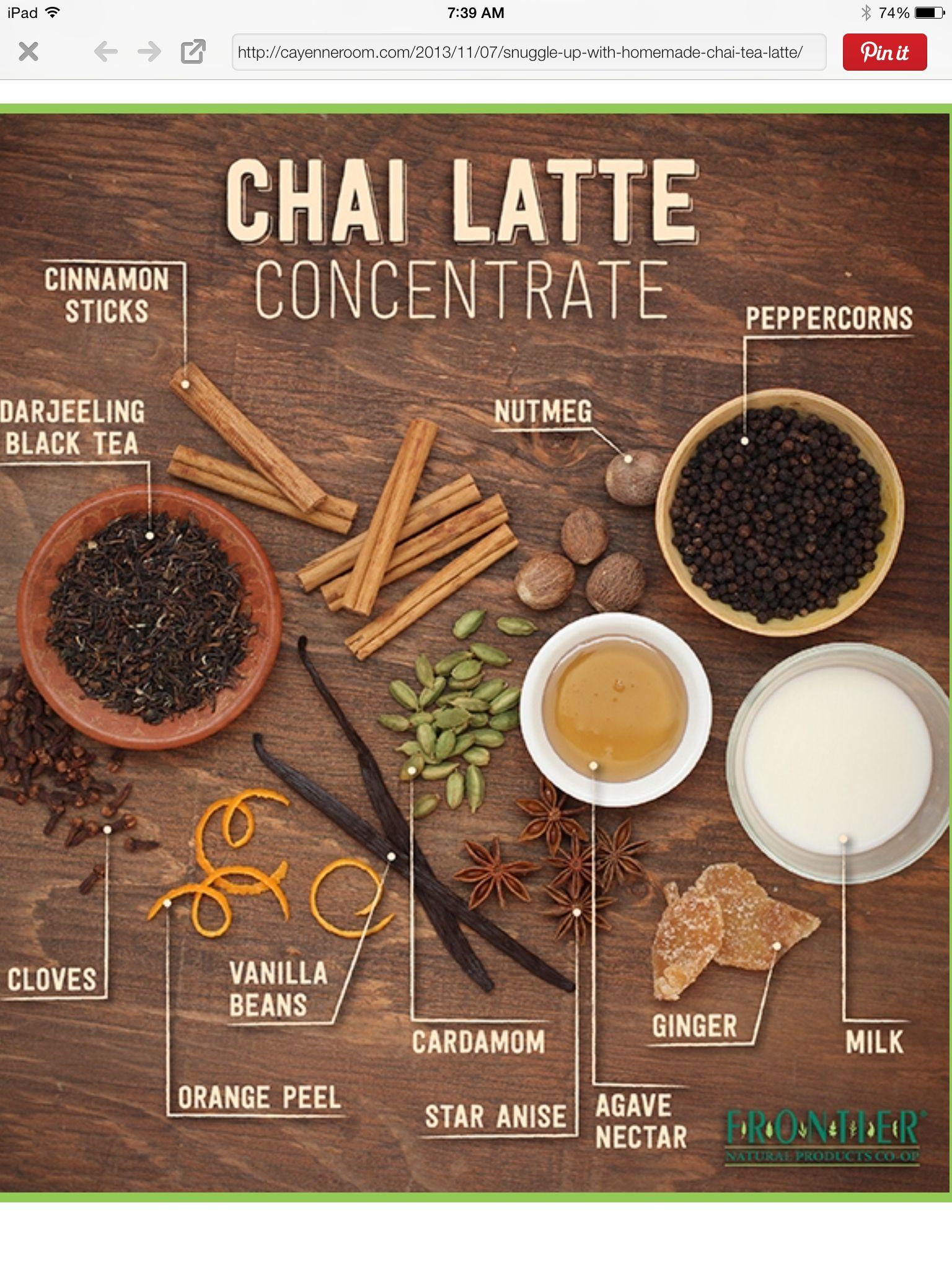 Chai Tee Rezept, Recipe For Chai Tea Latte, Chai Mix Recipe, Vanilla