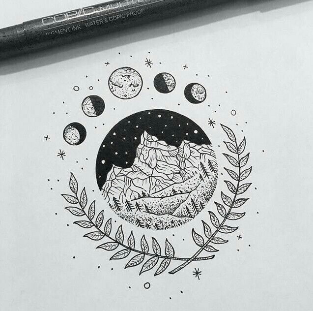 I Like The Moon Phases On This Simple But Clean Art Drawings