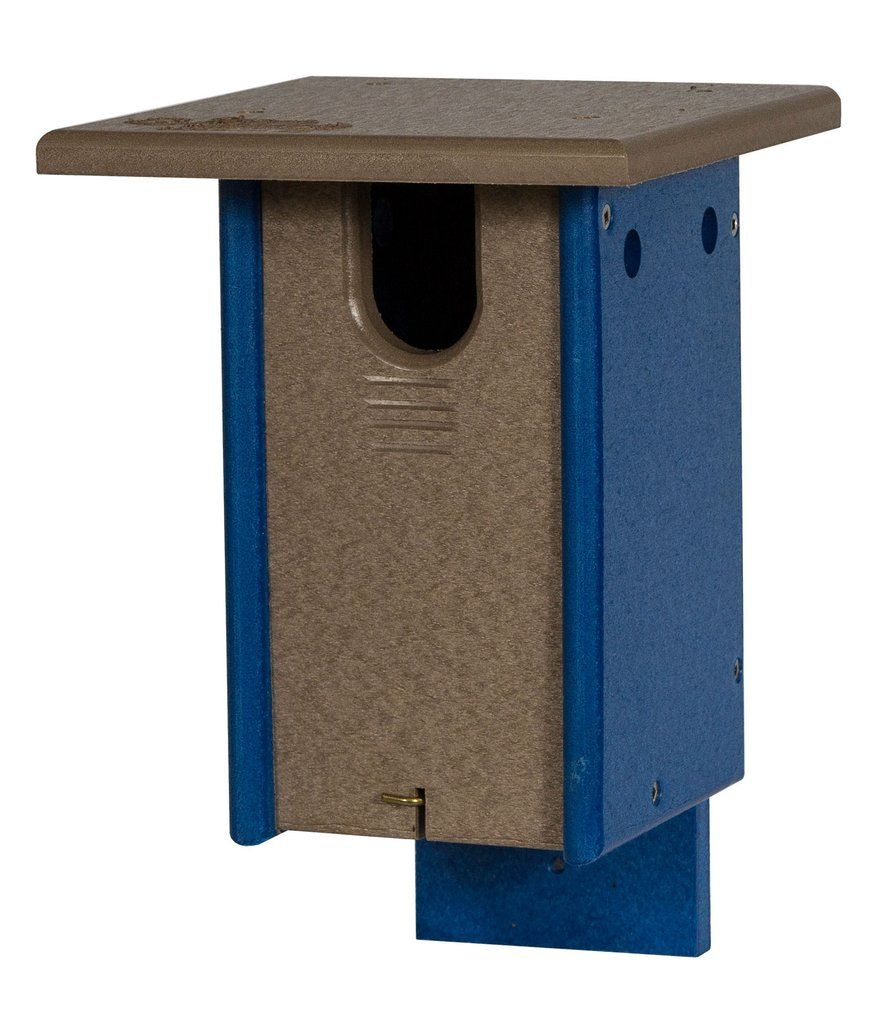 Sparrow Resistant BLUEBIRD HOUSE Recycled Poly Post Mount Birdhouse