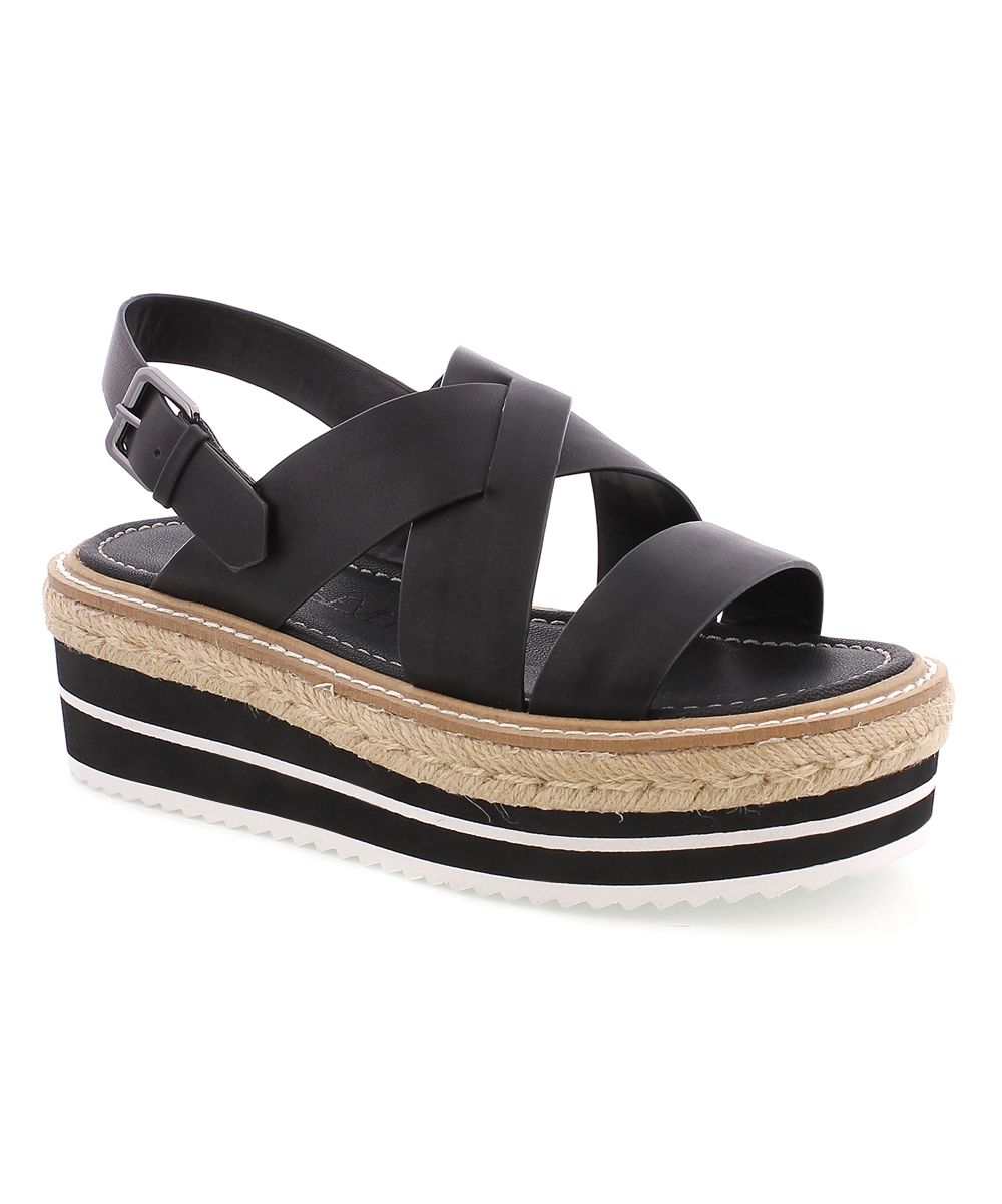 Black Ellen Leather Sandal