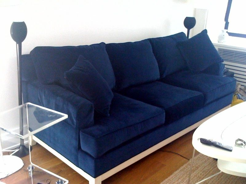 Another Similar Option For A Navy Blue Velvet Sofa Is The Room Board Hutton 98 Two Cushion