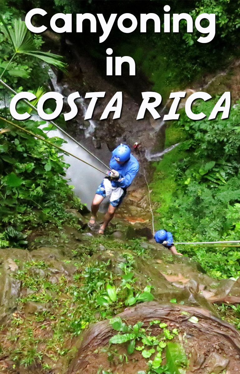 Rappelling down waterfalls in the rain forest, outside Arenal http://mytanfeet.com/activities/nature-safari-in-rio-frio-arenal/