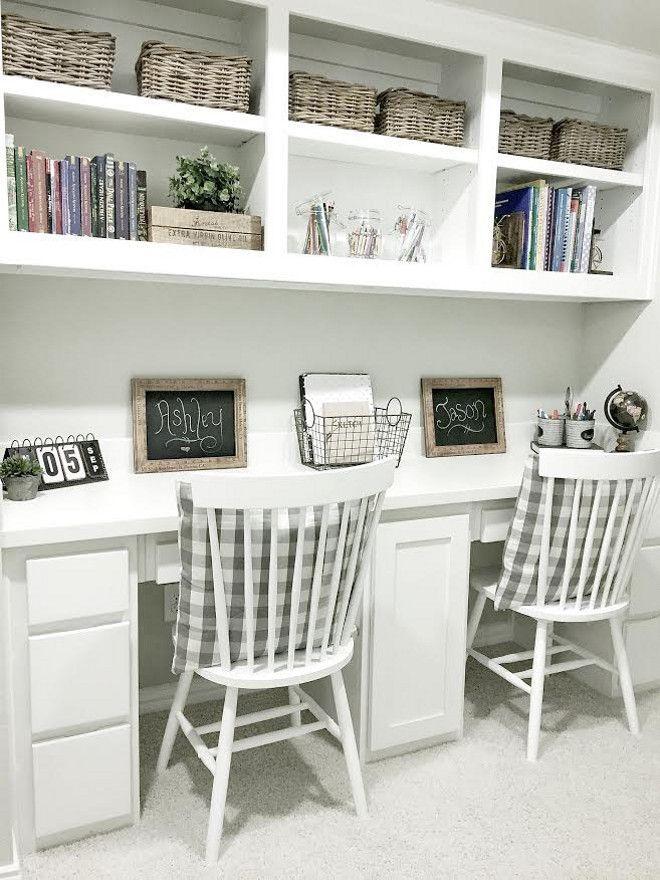 Image Result For Diy Built In Desk Homework Home Study Rooms Home Office Design Farmhouse Office Decor