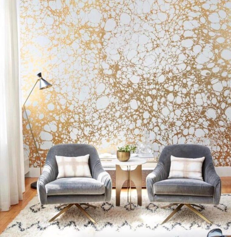 Statement Wall Home Design Trend How To Wallpaper Living Room