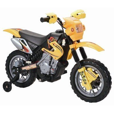 6 Volt Battery Dirt Bike Ride On Motorcycle Color Yellow By Happy