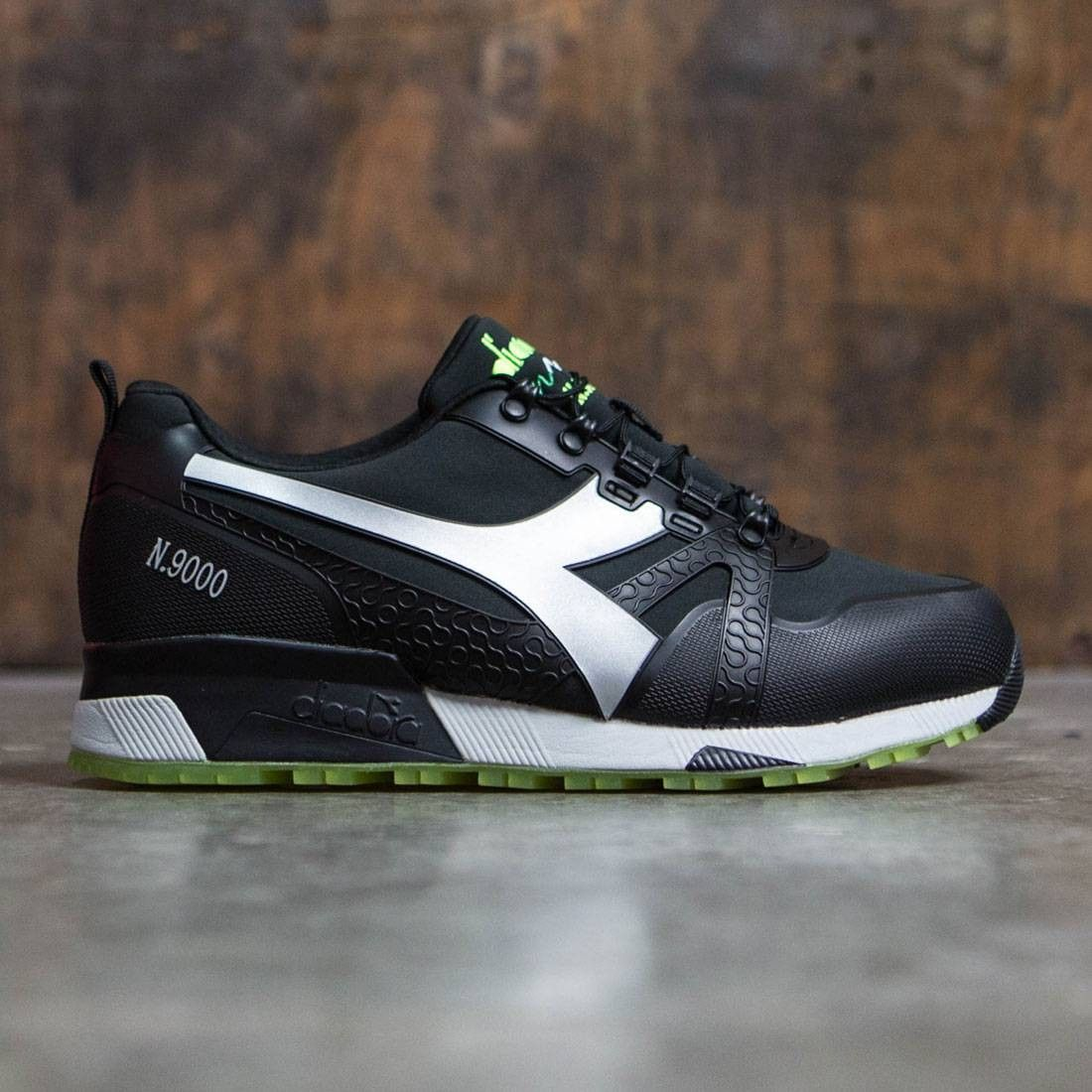 8a712b7d6f Diadora Men N9000 WNT - Bright (black / green / silver) | Sports ...