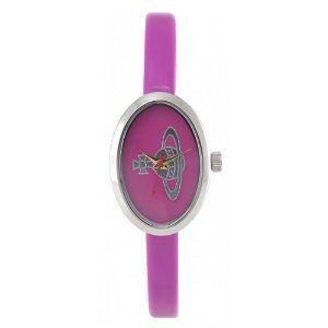 Vivienne Westwood Ladies 'Medal' Stainless Steel Watch with Bright Pink Strap Vivienne Westwood. $206.53