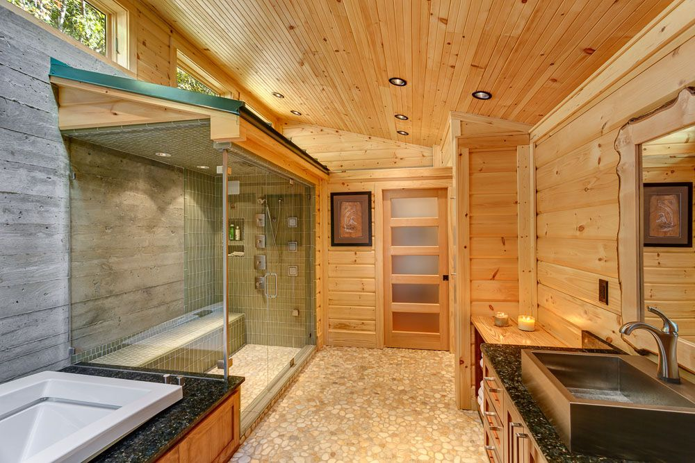 building a log home but wanting it to be more modernized