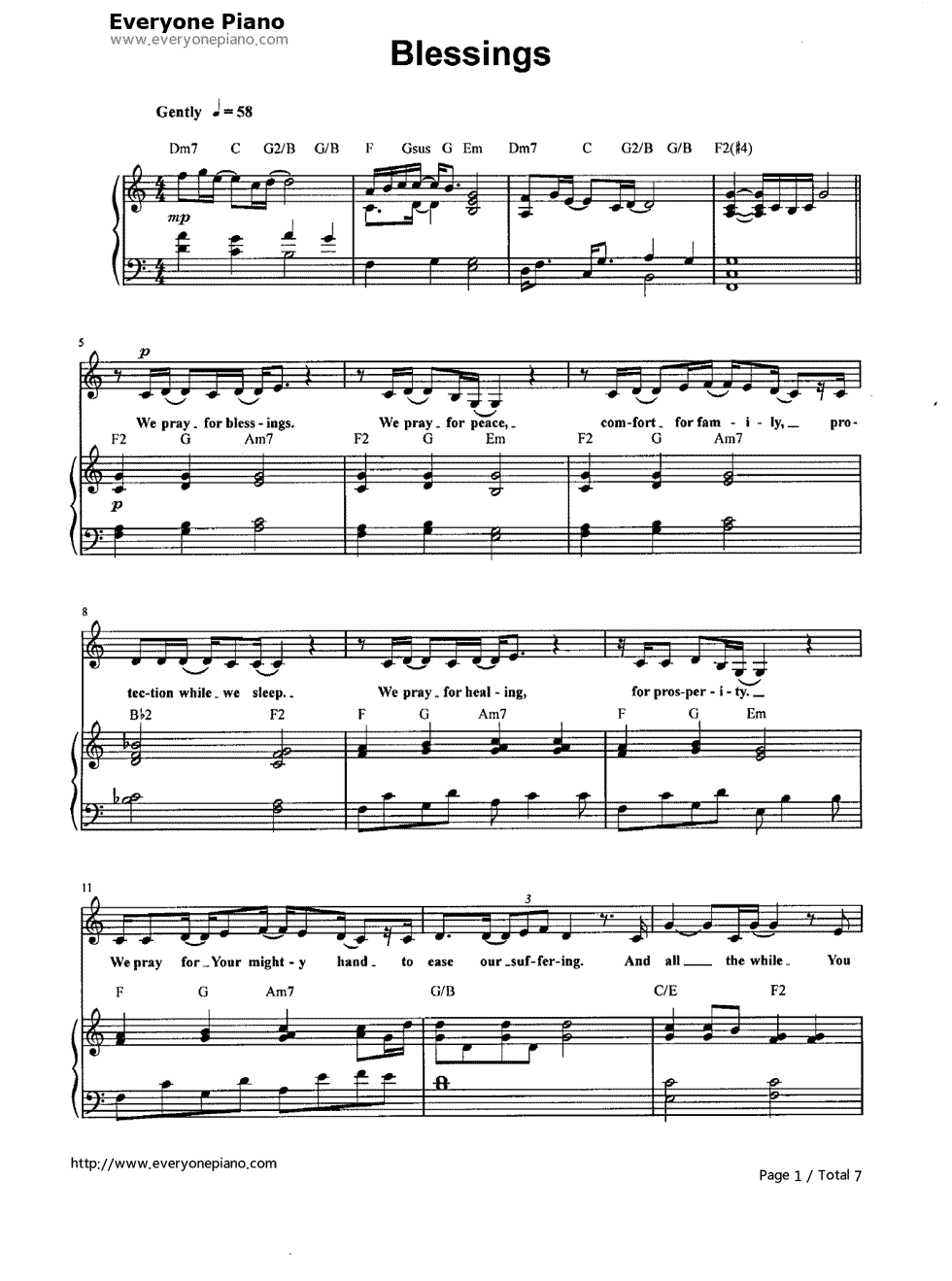 Sheet music for laura storys blessings music is my life sheet music for laura storys blessings hexwebz Gallery
