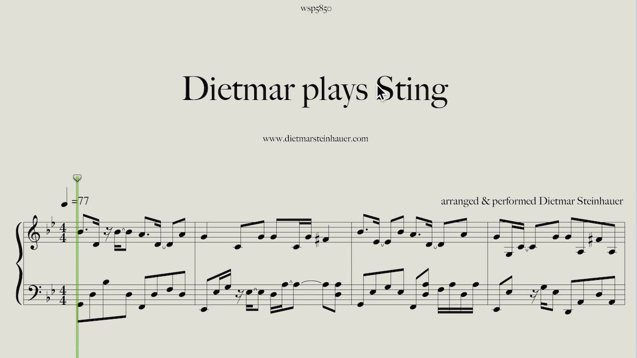 Dietmar Plays Sting Shape Of My Heart Fragile And Fields Of Gold Fields Of Gold Thank You For Listening Piano Sheet Music