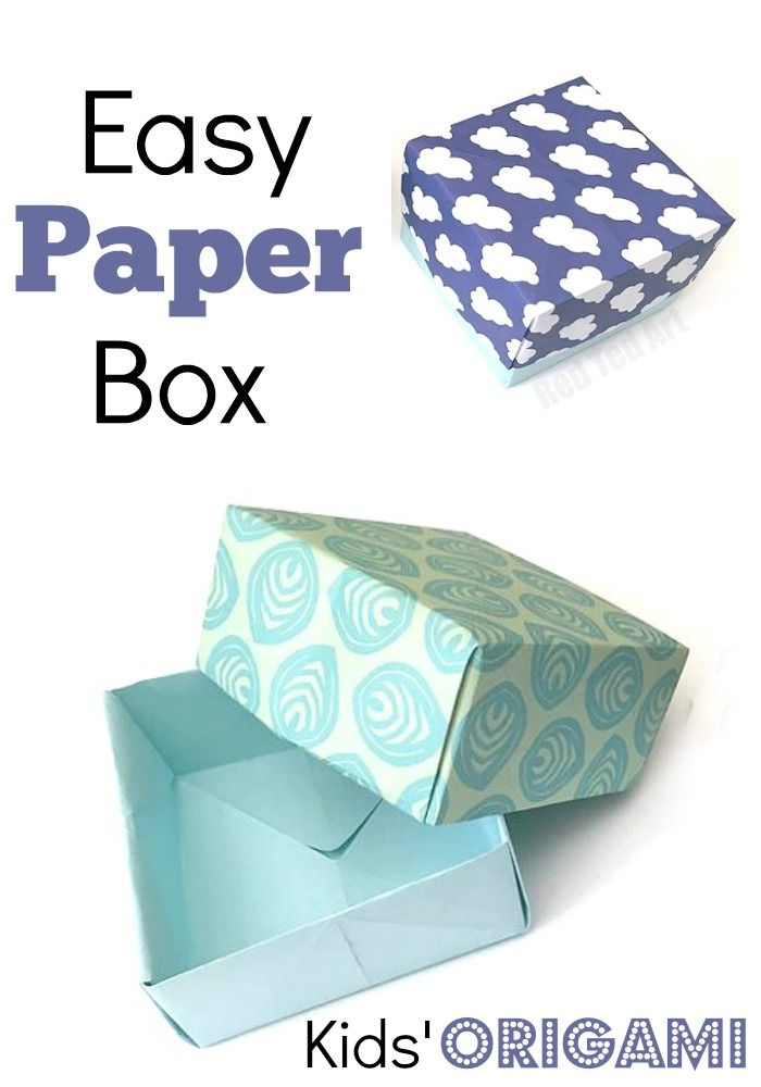 how to make a 3d box out of construction paper