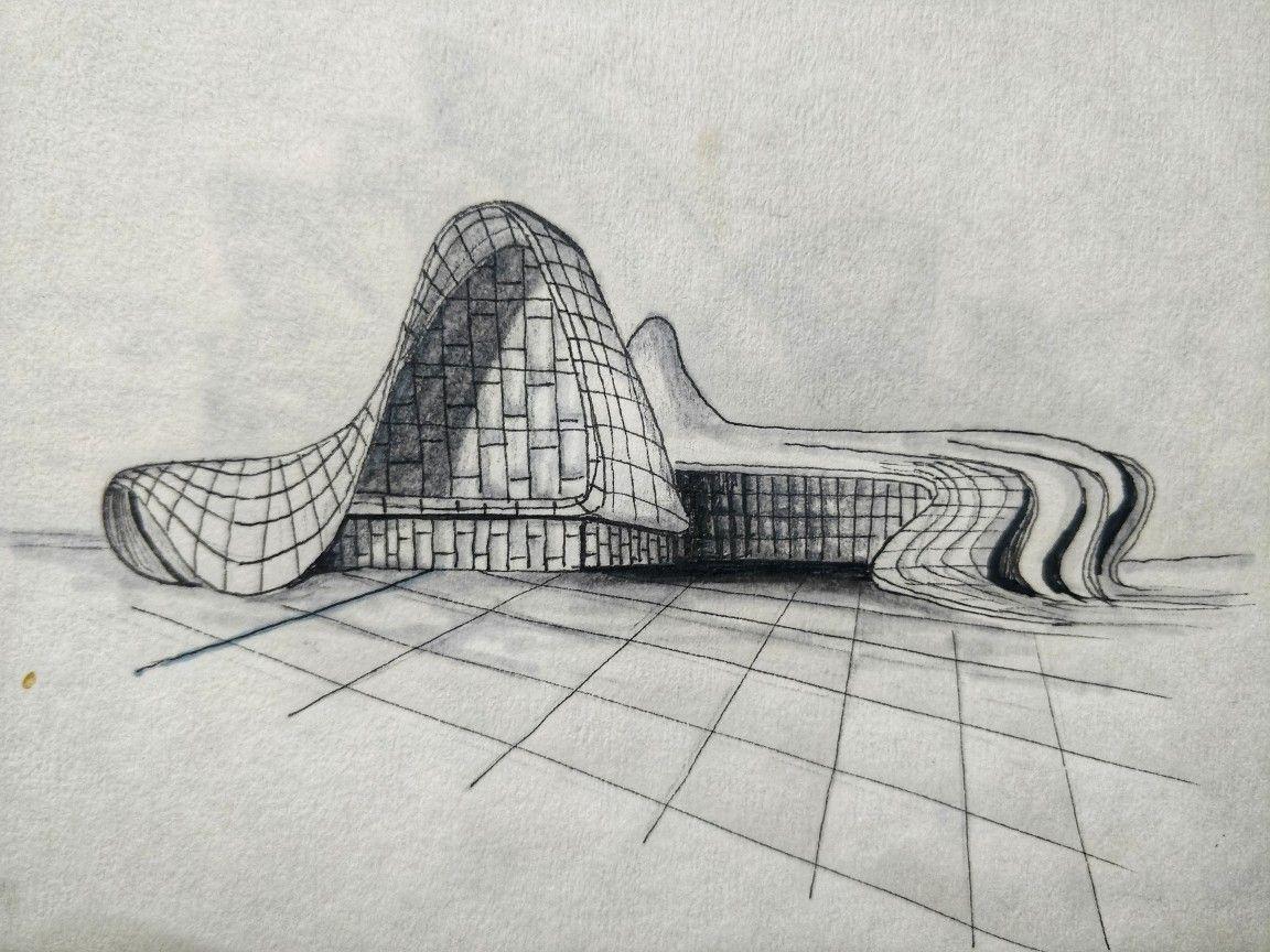 Heydar Aliyev Center By Zaha Hadid Zaha Hadid Zaha Architecture Drawing