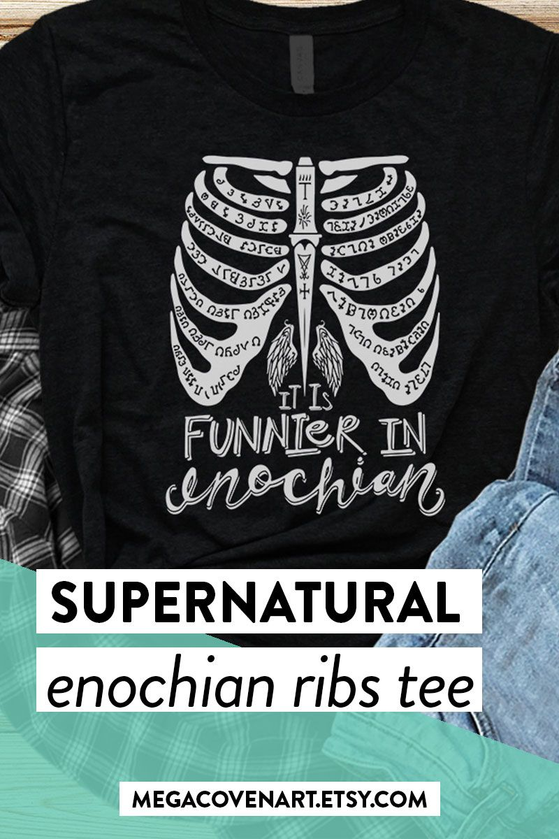 Its Funnier In Enochian Ladies T Shirt Supernatural Winchester Brothers Dean Top