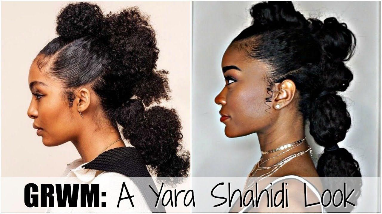 Grwm a yara shahidi look how to do a mohawkfohawk youtube