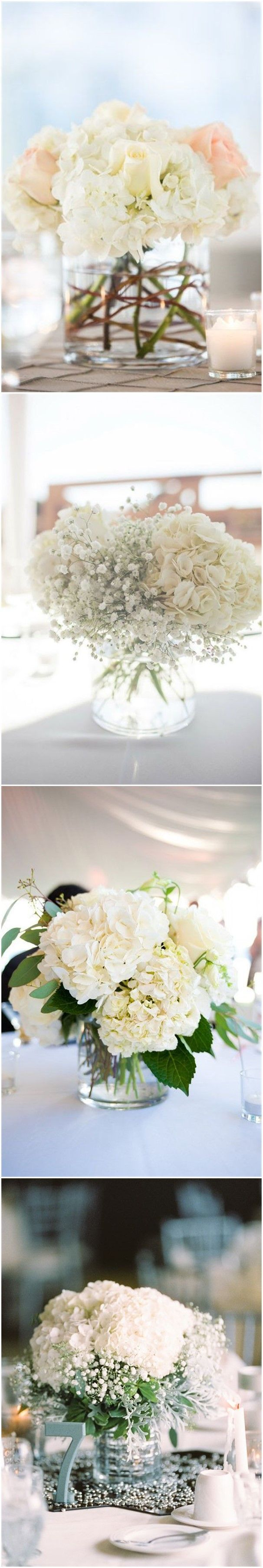 Wedding decorations simple   Simple Yet Rustic DIY Hydrangea Wedding Centerpieces Ideas