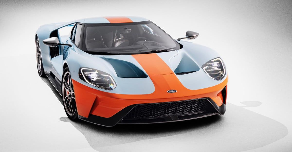 2019 Ford Gt Heritage Edition Debuts With Gulf Oil Livery Ford Gt Ford Gt40 Ford Gt Gulf