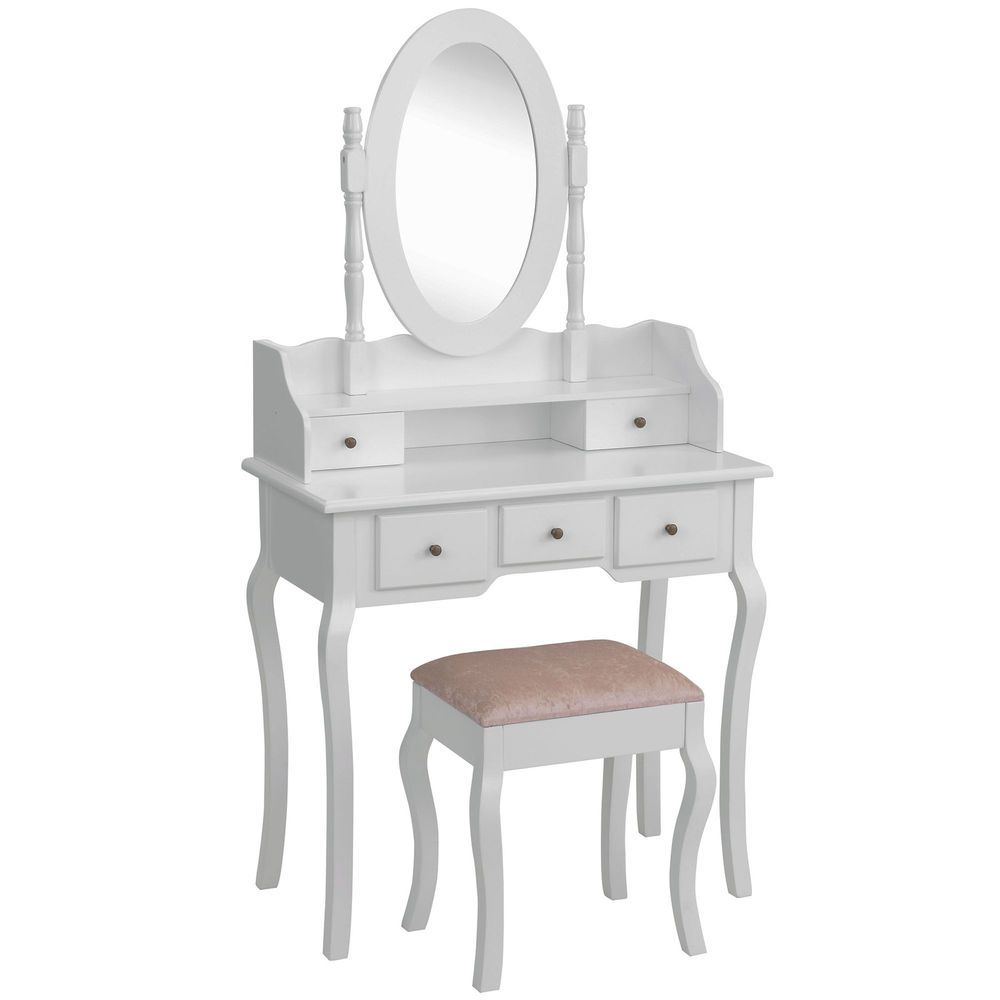 Beautify white dressing table set bedroom makeup vanity desk with