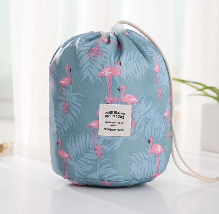 Wasserdichtes Make-up-Beutel und -Tasche – Flamingo