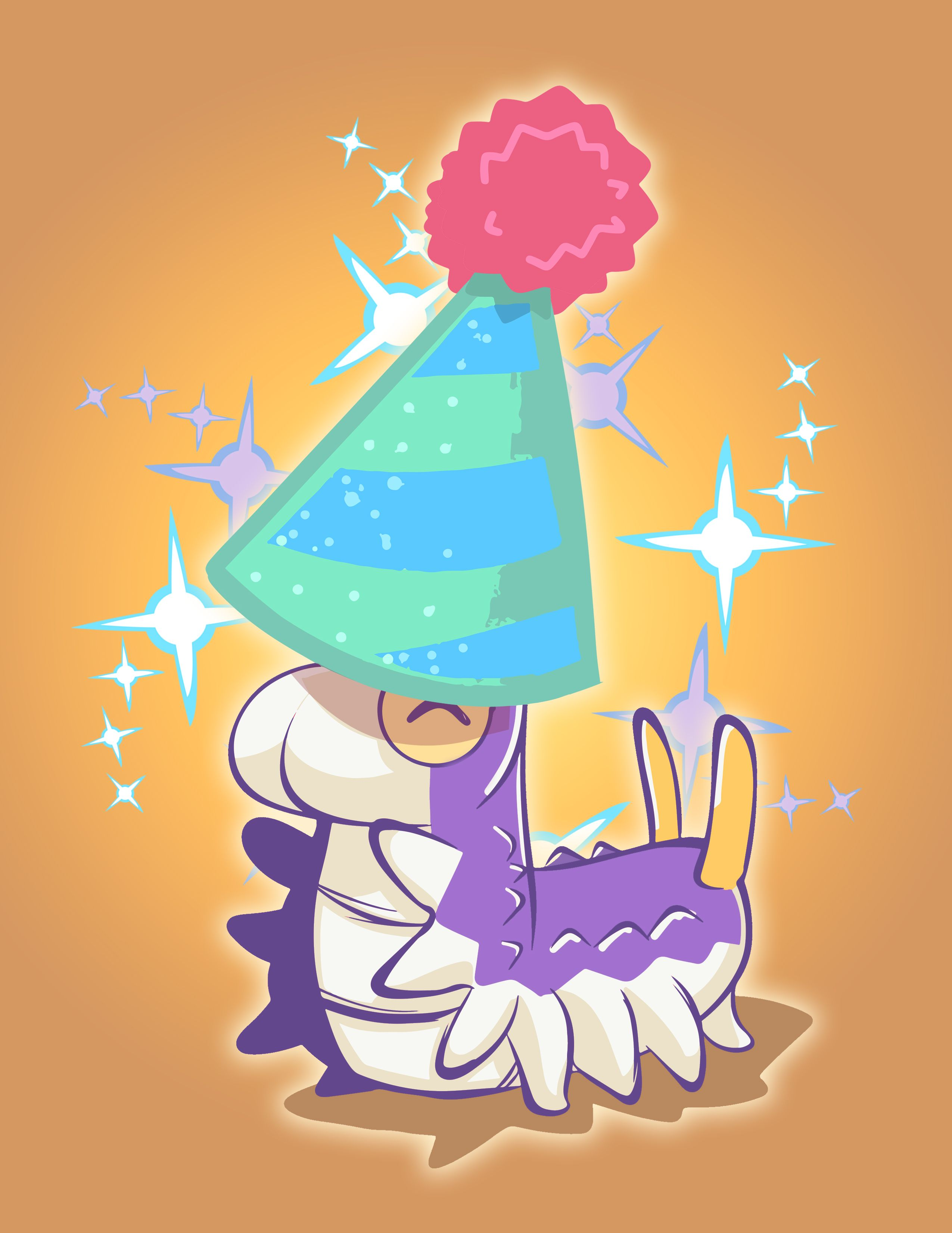 Shiny Party Hat Wurmple Print In My Shop Now Anime Pokemon Party Hats