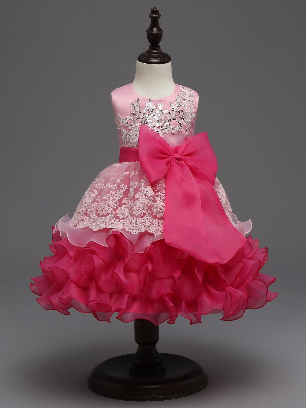 baby clothes sale sequin formal evening gown flower wedding