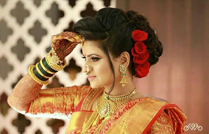 Pin By Vanderlei Ardeo On Ramya Sri Bridal Hairstyle Indian Wedding Indian Wedding Photography Indian Wedding Theme