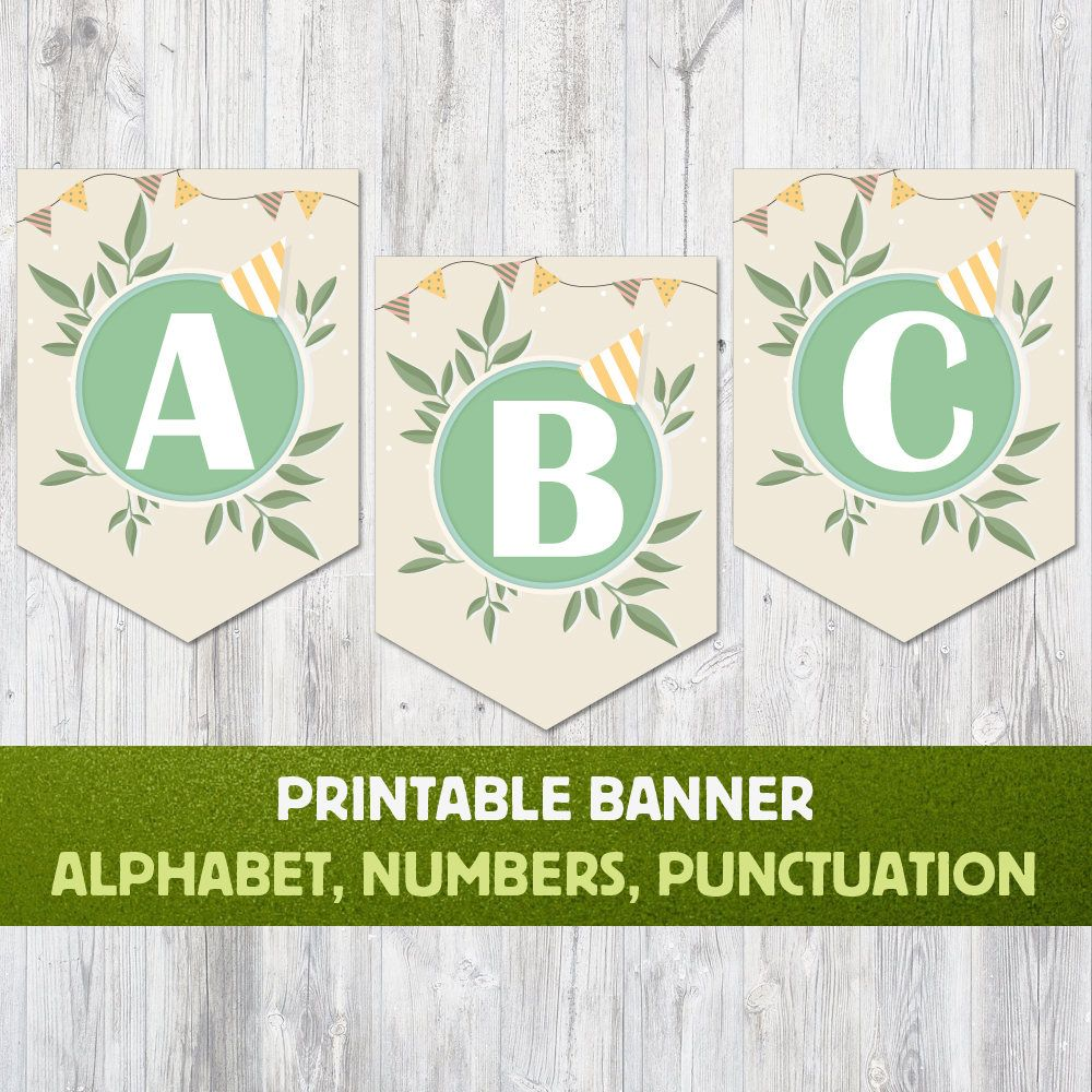 Printable Alphabet Banner Letters A To Z Numbers And Punctuation