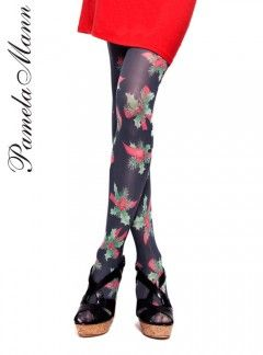4b727c5244ac7d Pamela Mann holly Christmas tights, perfect for Christmas party, #Christmas  #tights