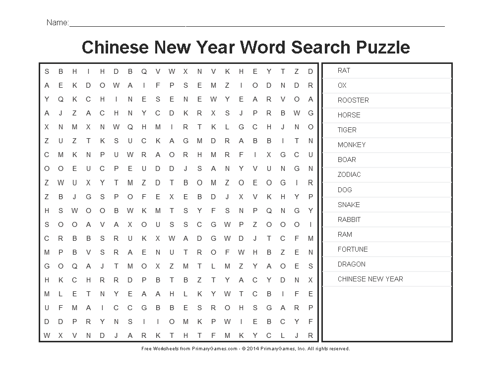 chinese new year worksheets chinese new year word search puzzle word search puzzles word. Black Bedroom Furniture Sets. Home Design Ideas