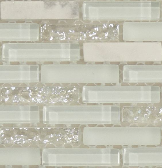White Sparkle Kitchen Floor Tiles: White Glitter Backsplash #opal #iridescent #pearl
