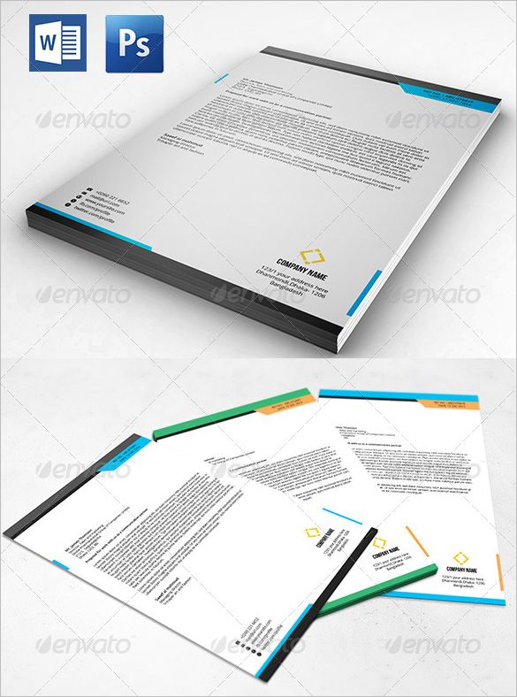 PSD Letterhead Template - 51+ Free PSD Format Download! Free - letterhead sample