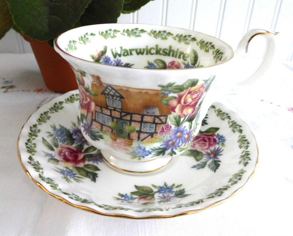 Royal albert bone china tea cup amp saucer winsome pattern ebay - Cup And Saucer Royal Albert Warwickshire English Country Cottages Bone China Afternoon Tea