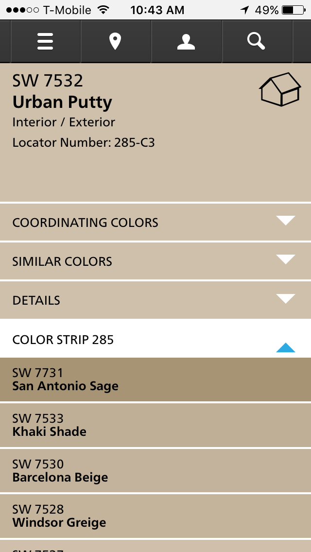 Sherwin Williams Urban Putty William Paint Exterior Colors Kitchen Room