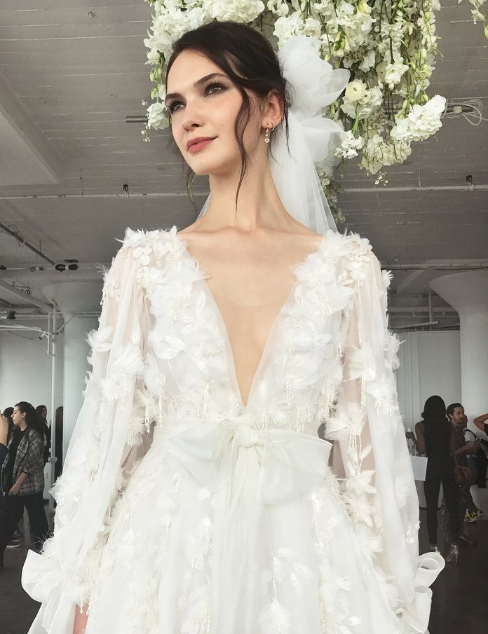 10 Dreamy Wedding Gowns from Marchesa's Fall 2018 Collection