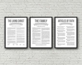 Family Proclamation and Living Christ matching by periwinkleinc