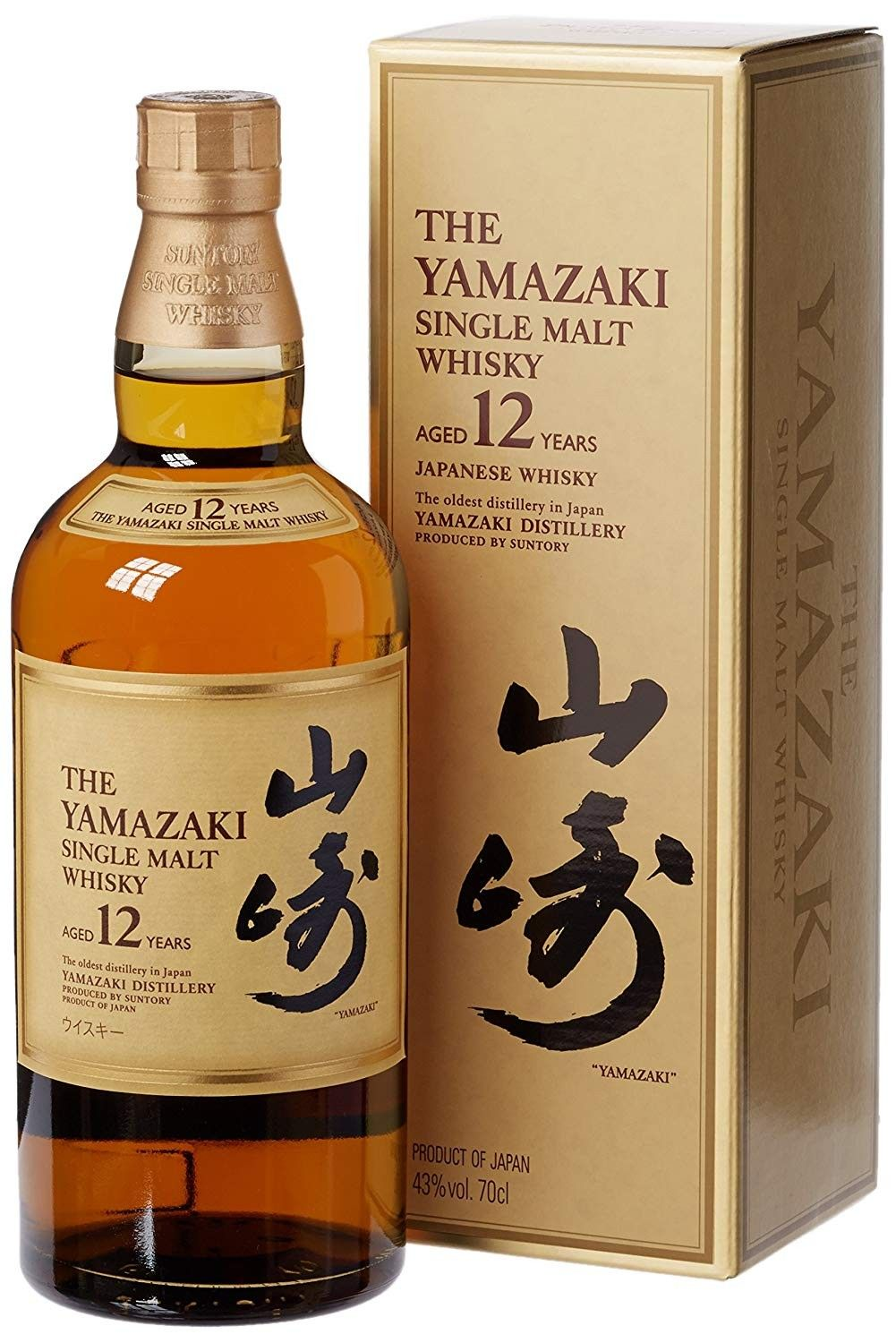 Suntory The Yamazaki Single Malt Whisky 12 Years Old 70cl Gift Box Malt Whisky Japanese Whisky Single Malt Whisky