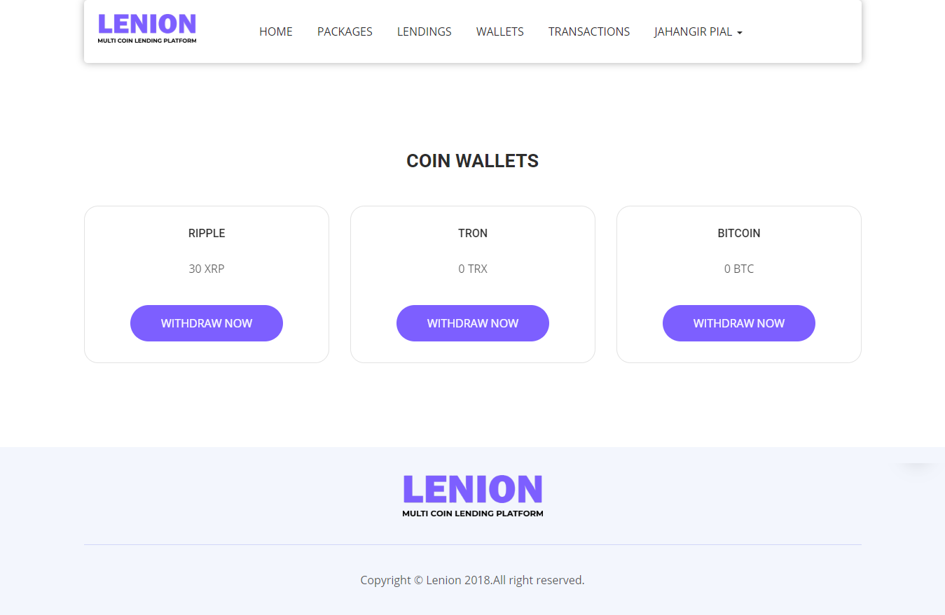 laravel cryptocurrency wallet