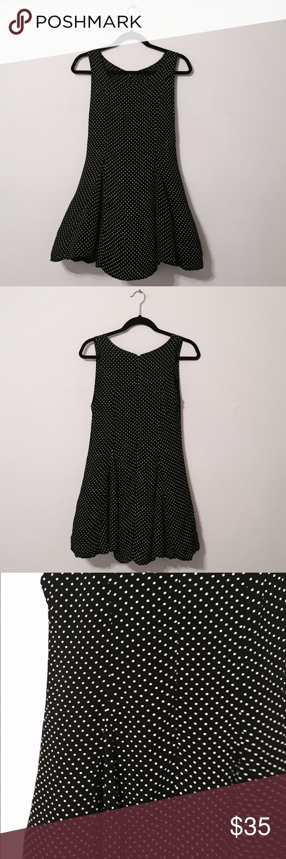 BRANDY MELVILLE Black and White Dot Dress A new without tags dress from Brandy Melville! One size but best for size smalls! Brandy Melville Dresses