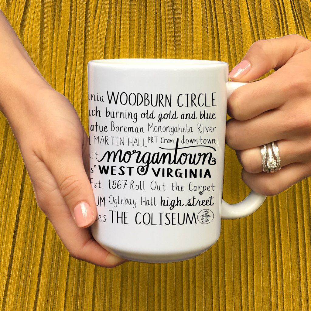 Morgantown Wv West Virginia University College Town Mug Mugs College Town Morgantown