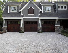 Beau WOODEN GARAGE DOOR GRAY HOUSE   Google Search