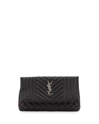 3702eb50f73e V2ZX3 Saint Laurent Monogram Tri-Quilt West Hollywood Clutch Bag ...