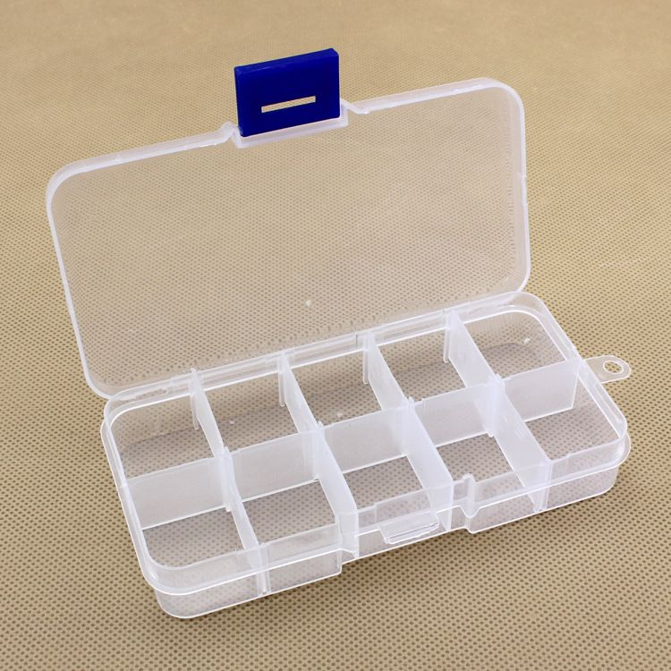 10 Compartments Removable Convenient Plastic Fishing Track Box Component Fishing Lure Tackle Boxs Plastic Box Storage Storage Box Jewellery Storage