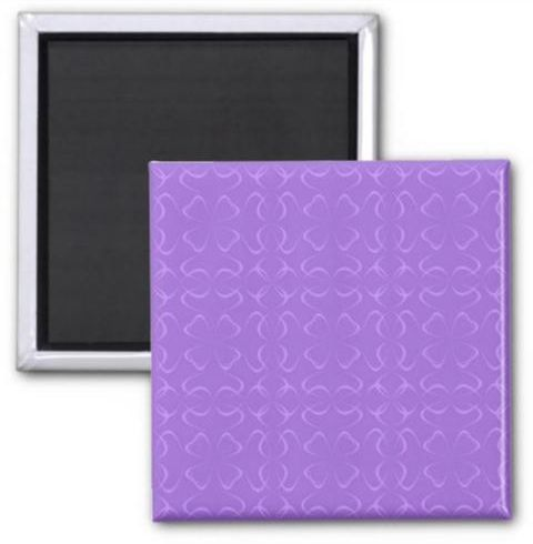 Amethyst calligraphic pattern 2 inch square magnet $3.85 *** amethyst - calligraphic - floral - repeat - pattern - repeat pattern - purple - curve - line - ribbon - button magnet