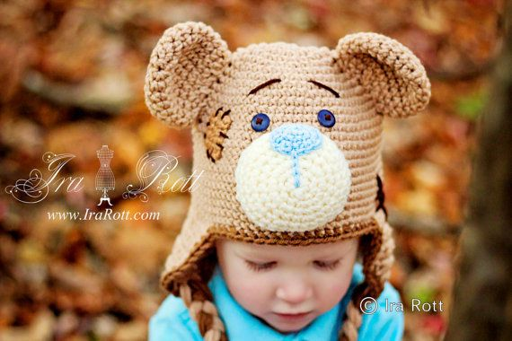 Classic Teddy Bear Handmade Hat Made To Order From Newborn To 5