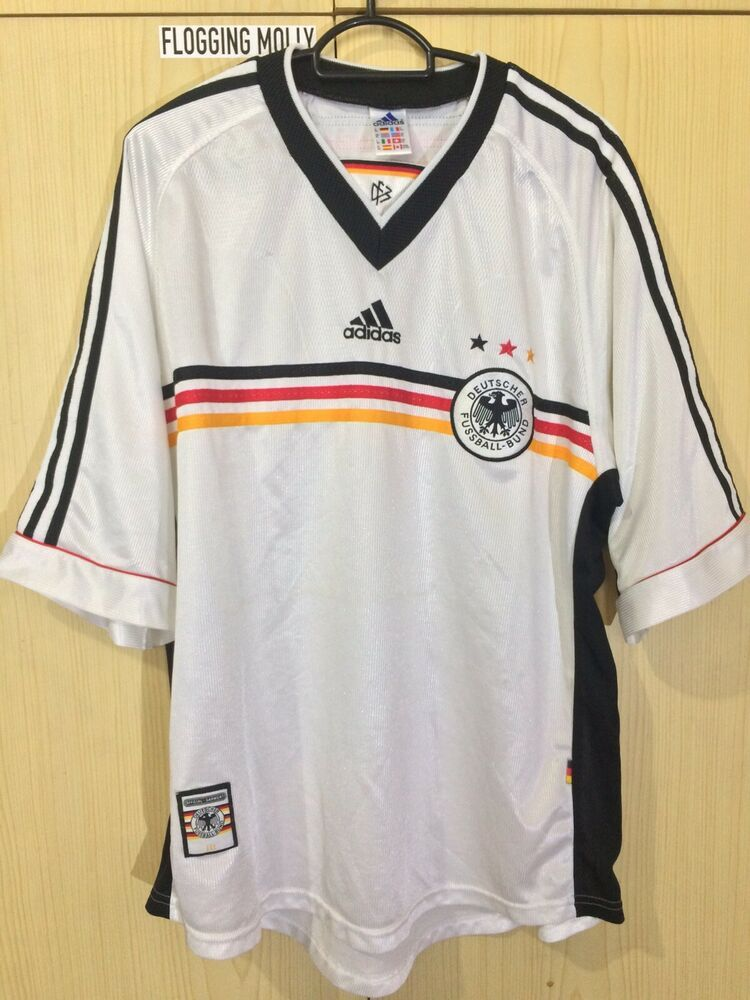 ADIDAS GERMANY WORLD CUP 1998 HOME FOOTBALL SOCCER JERSEY