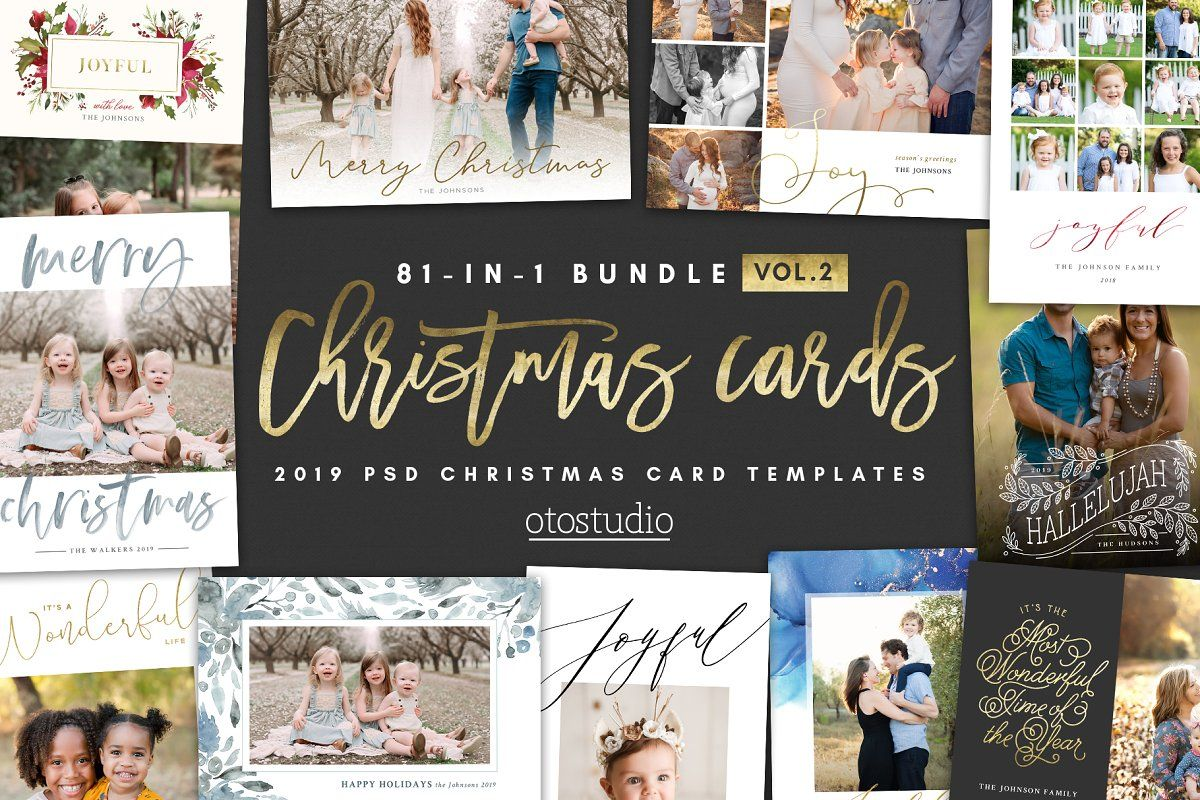 New 81 In 1 Christmas Cards Bundle Christmas Card Template Christmas Cards Card Templates