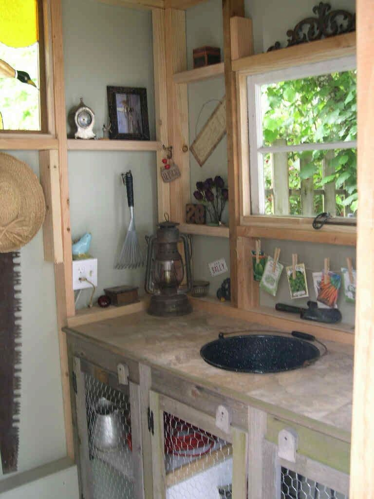My Garden Shed Interior Our Farmhouse Pinterest Garden Shed