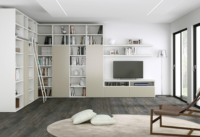 Risultati immagini per soluzione besta angolare  casa design  Bookcase Living Room Furniture
