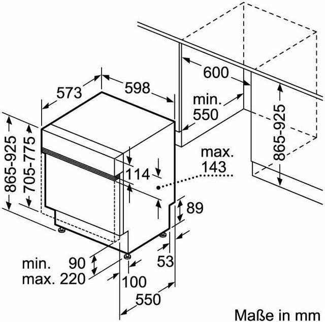 teilintegrierbarer Geschirrspüler, CG5B51J5, 9,5 l, 12